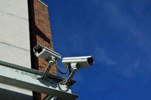 cameras on corner of building