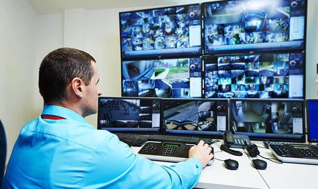 man at Security screens